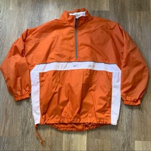 Nike 1/4 Zip Orange windbreaker Men's Sz L